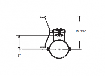 """Hutchinson - 10"""" Hutchinson Commercial Rack & Pinion Control with 18"""" Travel for 13"""" Floors"""