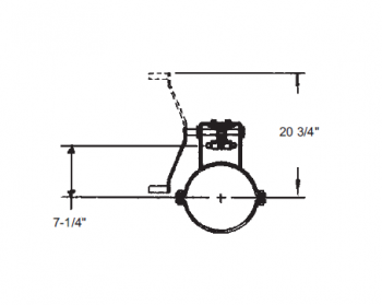 "Hutchinson - 12"" Hutchinson Commercial Rack & Pinion Control"