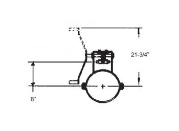 "Hutchinson - 14"" Hutchinson Commercial Rack & Pinion Control"