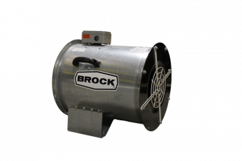 "Brock - 28"" Brock In-Line Centrifugal Fan - 10 HP 3 PH 230V"