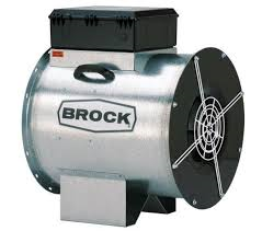 "Brock - 24"" Brock In-Line Centrifugal Fan with Control - 7.5 HP 3 PH 230V"