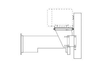 "Hutchinson - 10"" Hutchinson 15HP Horizontal Power Head Direct Drive - 3-Belt"
