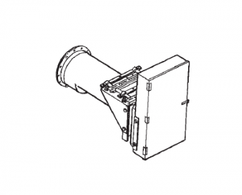"Hutchinson - 12"" Hutchinson 7.5-10HP Horizontal 3-1 Reduction Chain Drive Power Head -2-Belt"