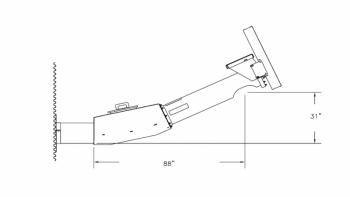 """Hutchinson - 12"""" to 14"""" Hutchinson 5HP Heavy Duty 4-1 Reducer 25° Bin Unloader -4-Belt"""