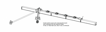 Hutchinson - Hutchinson 5HP New Commercial Power Sweep for Model 85 Mass-Ter Mover for 42' Bin