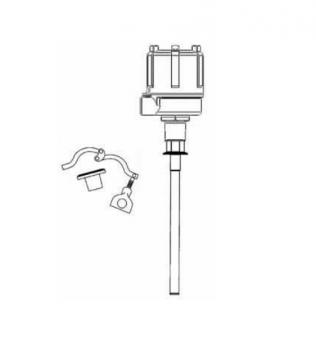 "BinMaster - BinMaster 11"" Shielded Delrin Sleeved 3-A/USDA Probe"