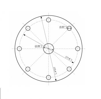 BinMaster - BinMaster 0° Stainless Steel Mounting Plate for 3DLevelScanner