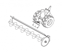 Hutchinson Commercial Klean Sweep Accessories - Hutchinson 1012 Series Accessories - Hutchinson - Hutchinson Tractor with 1Ph TEFC Motor for 1012 Series