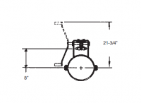 """14"""" Hutchinson Commercial Rack & Pinion Control"""
