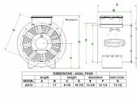 "Brock - 12"" Brock Axial Fan - .75 HP 1 PH 115V - Image 2"