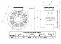 "Brock - 12"" Brock Axial Fan - .75 HP 1 PH 230V - Image 2"