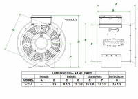 "Brock - 14"" Brock Axial Fan - 1.5 HP 1 PH 115V - Image 2"