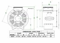 "Brock - 24"" Brock Axial Fan - 10 HP 1 PH 230V - Image 2"