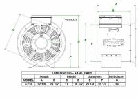 "Brock - 26"" Brock Axial Fan - 12 HP 3 PH 230V - Image 2"