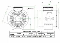 """Brock - 24"""" Brock Axial Fan with Control - 10 HP 1 PH 230V - Image 2"""