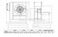 "Brock - 22"" Brock High-Speed Centrifugal Fan - 25 HP 3 PH 230V - Image 2"