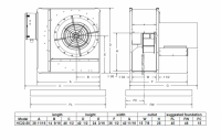 "Brock - 22"" Brock High-Speed Centrifugal Fan - 50 HP 3 PH 230V - Image 2"
