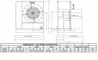 "Brock - 22"" Brock Centrifugal Fan - 5 HP 3 PH 230V - Image 2"