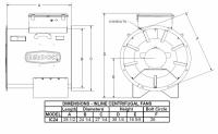 """Brock - 24"""" Brock In-Line Centrifugal Fan - 7.5 HP 3 PH 230V - Image 2"""