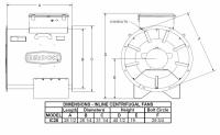 """Brock - 28"""" Brock In-Line Centrifugal Fan - 15 HP 3 PH 230V - Image 2"""