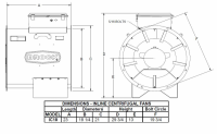 """Brock - 18"""" Brock In-Line Centrifugal Fan with Control - 1.5 HP 1 PH 230V - Image 2"""