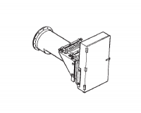 "Hutchinson - 12"" Hutchinson 10-15HP Horizontal 4-1 Reduction Gear Drive Power Head - 2-Belt"