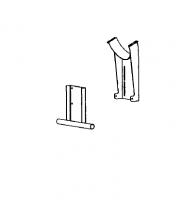 "Hutchinson Standard Bin Unload Accessories - 10"" Hutchinson Standard Bin Unload Accessories - Hutchinson - 10"" Hutchinson 25° Stand"