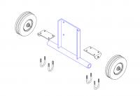 "Hutchinson Standard Bin Unload Accessories - 10"" Hutchinson Standard Bin Unload Accessories - Hutchinson - Hutchinson Optional Wheel Kit for 10"" Stand on 25° Power Head"
