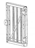 Greene Galvanized Stairs - Greene Sidewall Stairs - Greene - Greene Sidewall Stair Gate
