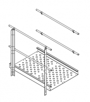 Greene Galvanized Stairs - Greene Sidewall Stairs - Greene - Greene Twin Platform Filler