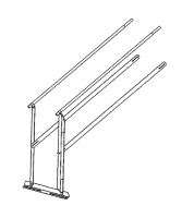 Greene Galvanized Stairs - Greene Easy Step Roof Ladder Handrail - Greene - Greene Easy Step Roof Ladder Handrail for 72' Bin