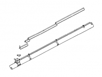 "Hutchinson Standard Bin Unload Accessories - 6"" Hutchinson Standard Bin Unload Accessories - Hutchinson - 6"" Hutchinson Drive Shaft Extension Kit"