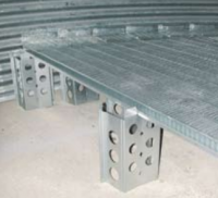 "Bin Floors - Brock Floor Supports - Brock - Brock Channel-Lock High Support - 4"" Corrugation"