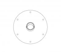 BinMaster Rotary Level Control - BinMaster Mounting Plates - BinMaster - BinMaster GRMP-4 0° Stainless Steel Top Mounting Plate with Black Neoprene Gasket