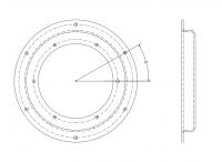 BinMaster Standard Capacitance Probes - BinMaster PROCAP Series Standard Flush Mount Capacitance Probes - BinMaster - BinMaster Steel Bin Wall Adapter