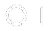 BinMaster Standard Capacitance Probes - BinMaster PROCAP Series Standard Flush Mount Capacitance Probes - BinMaster - BinMaster Polyethylene Bin Wall Adapter