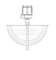 "BinMaster Capacitance Probe Assemblies - BinMaster Shielded Delrin Sleeved Probes - BinMaster - BinMaster 24"" Shielded Delrin Sleeved Probe"