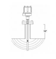 "BinMaster 48"" Extended Shield Delrin Sleeved 3-A/USDA Probe"