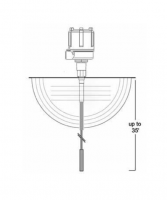 BinMaster Capacitance Probe Assemblies - BinMaster Hanging Flexible Cable Probes - BinMaster - BinMaster Bare Stainless Steel Shielded Hanging Flexible Cable Extension