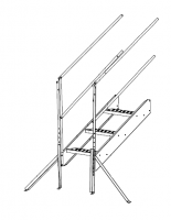Greene Access Parts - Greene Roof Stairs - Greene - Greene 4' Roof Stair Single Section