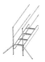 "Greene Galvanized Stairs - Greene Roof Stairs - Greene - Greene 5'4"" Roof Stair Single Section"