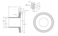 """BinMaster - BinMaster 1"""" Stainless Steel Welding Ferrule Flange"""