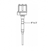 BinMaster Custom Capacitance Probes - BinMaster Capacitance Probe Accessories - BinMaster - BinMaster Lagged Probe Fitting with Stainless Steel Connector