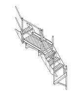 """42"""" Greene Intermediate Platform and Stairs"""