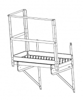 "Greene Easy Step Sidewall Stairs - Greene Easy Step Sidewall Stairs for 42"" Rings - Greene - 42"" Greene Ladder Platform with 1 End and 2 Side Kickboards"