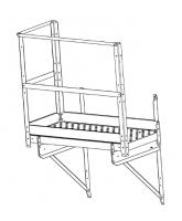 """42"""" Greene Ladder Platform with 1 End and 2 Side Kickboards"""