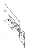 "Greene Easy Step Sidewall Stairs - Greene Easy Step Sidewall Stairs for 44"" Rings - Greene - 44"" Greene Stair Section"