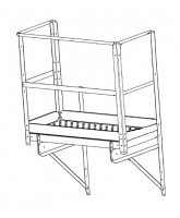 """Greene Easy Step Sidewall Stairs - Greene Easy Step Sidewall Stairs for 45"""" Rings - Greene - 45"""" Greene End Platform with 2 End and 2 Side Kickboards"""