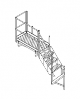 """Greene Easy Step Sidewall Stairs - Greene Easy Step Sidewall Stairs for 45"""" Rings - Greene - 45"""" Greene Stair Platform and Top Section"""