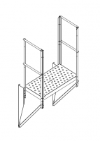 Greene Access Parts - Greene Sidewall Stairs - Greene - Greene Twin Platform
